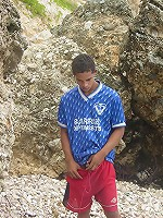 Hottie latino dude ball off in rocky island