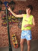 Sweet and handsome Skater Boy